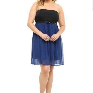 Torrid Polka Dot Chiffon Dress